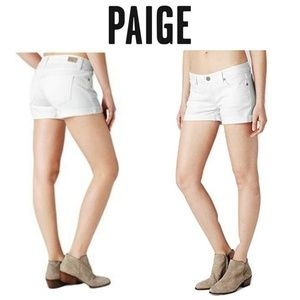 NWT Paige Jimmy Jimmy Jean Shorts Sz 32 White New